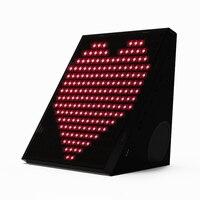 Fashion Magic Box Intelligent Spectum Bluetooth Speaker DIY LED Drawing Animation Calls Talk Alarm Clock Night