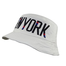 40adeb356ce MinanSer NEW YORK Letter Embroidery Women Harajuku Solid Color Bucket Hat  Sport White