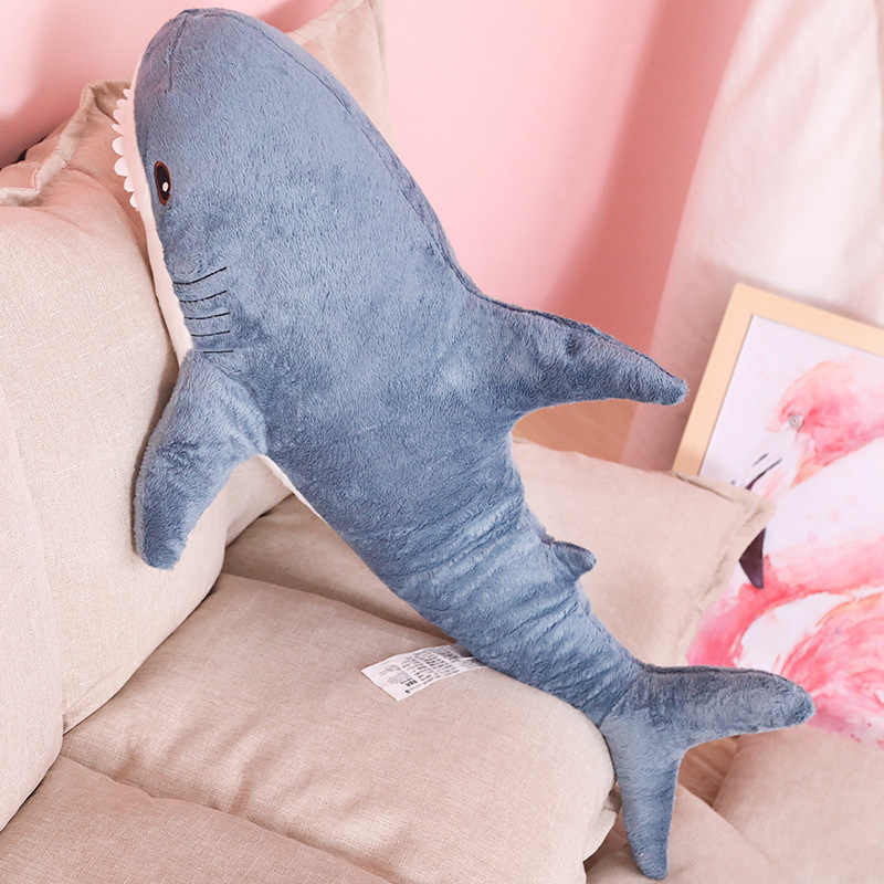 60 cm Rússia Tubarão Tubarão de Pelúcia Brinquedos de pelúcia Bicho de pelúcia Plush Bebê Dormindo Travesseiro Simulação Animais de Brinquedo para Crianças de Aniversário presente