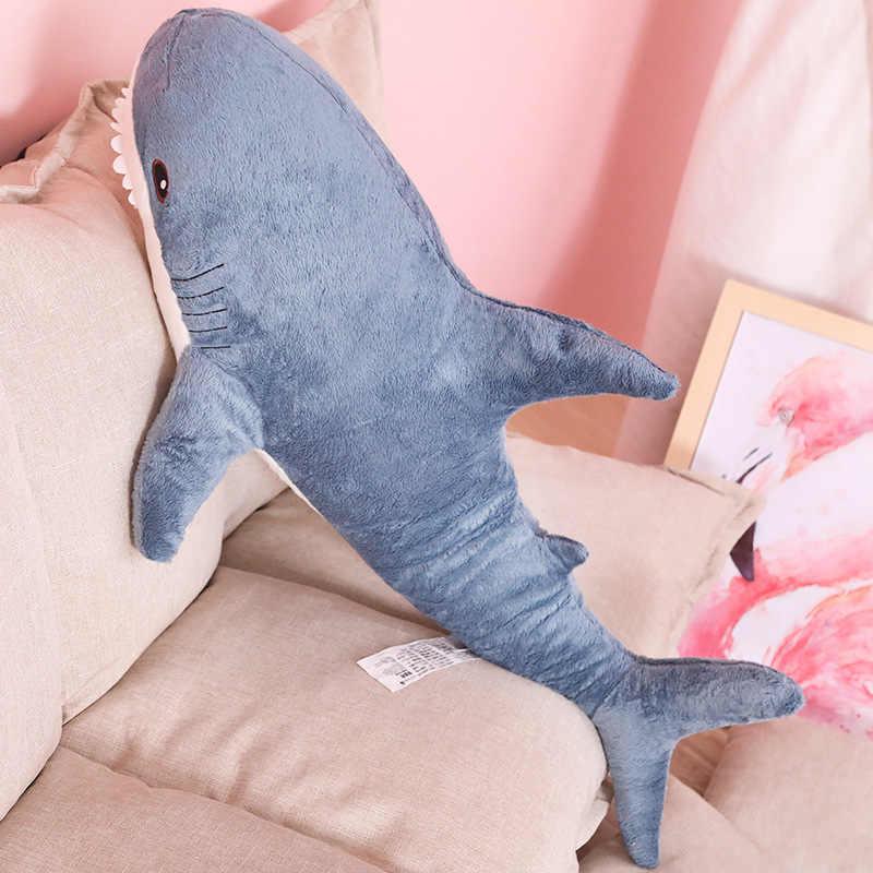 60 cm felpa tiburón juguetes suave peluche Animal Rusia tiburón peluche bebé almohada dormir simulación animales juguete para niños cumpleaños regalo