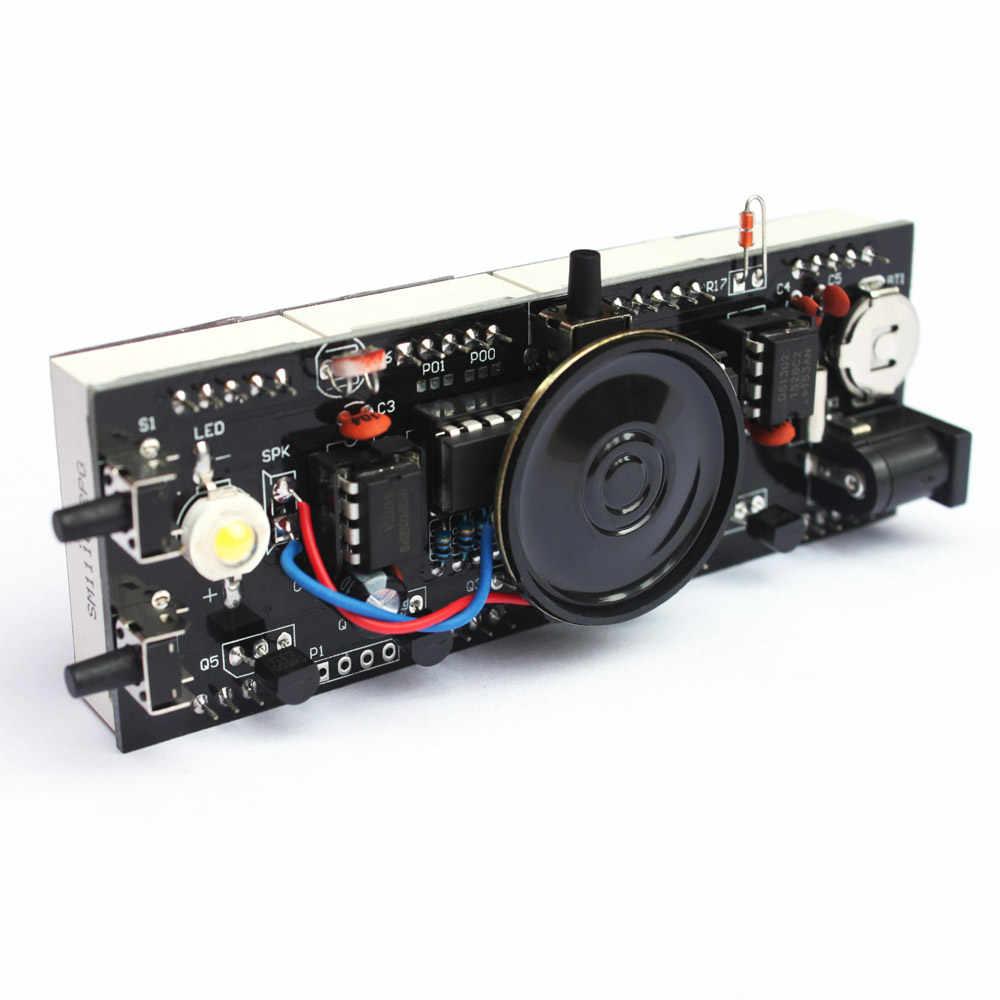 المدمجة 4 أرقام الرقمية Led يتحدث ساعة DIY كيت ضوء التحكم درجة الحرارة التسجيل عرض الوقت شفافة حالة الموقت DIY كيت