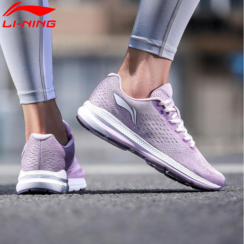Li-Ning Women REACTOR Cushion Running Shoes Light Wearable LiNing Comfort Anti-Slippery Sport Shoes Sneakers ARHN056 XYP750