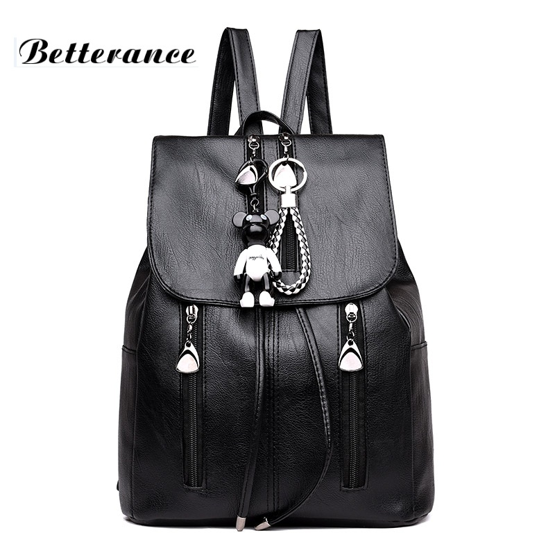 Betterance 2018 Variety water-proof Women Backpack PU Leather School Bags