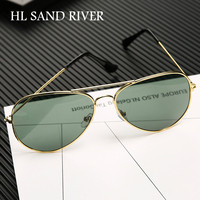 a9d9fe51db Classic Pilots Mirror Sunglasses Grey And Green Lens Oval Retro UV 400  Sunglasses Boys And Girls