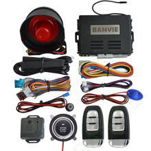 BANVIE Universal PKE Car Security Alarm System with Remote Engine Starter / Start Stop Push Button / Passive keyless go starline цены онлайн