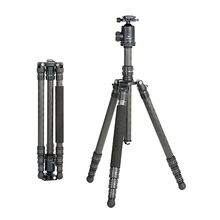 Marsace MT-2541T Carbon Fiber Tripod Loaded to12Kg with 44mm Diameter Aircraft-grade Aluminum Ballhead Universal QR Plate Kit