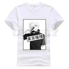2019 suprem short sleeve Tokyo Ghoul Kaneki Ken oggai / Sasaki graphic shirt tshirts brands Mens Clothing