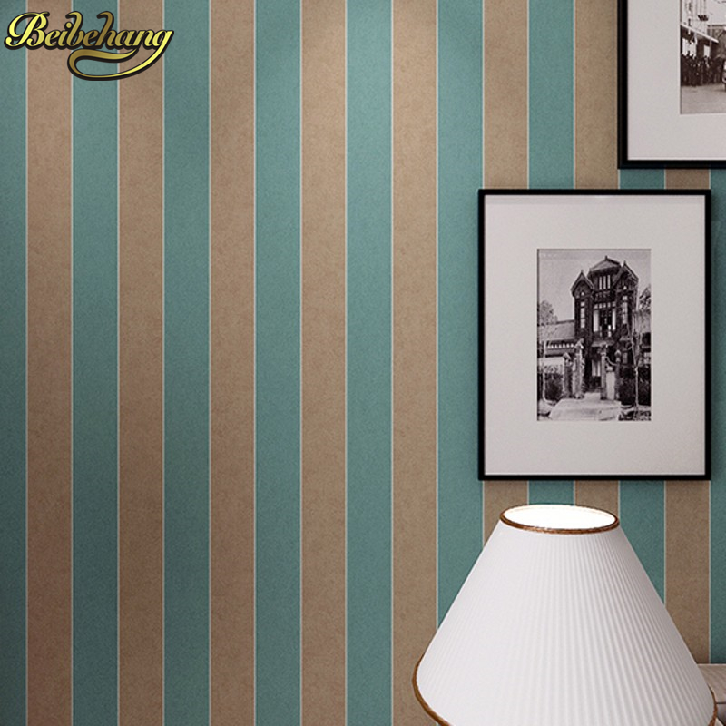 beibehang Modern wide striped nonwoven wallpaper bedroom living room background paper home decor Wall paper Roll papel de parede solid color linen pattern wall paper pvc waterproof modern bedroom living room restaurant hotel background decor wallpaper roll