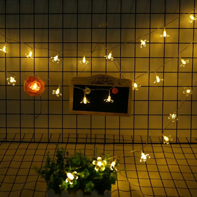 JULELYS 10M 80 bulbs Bateria e qershisë me qershi Mundësuar Dritat - Ndriçimi i pushimeve - Foto 4