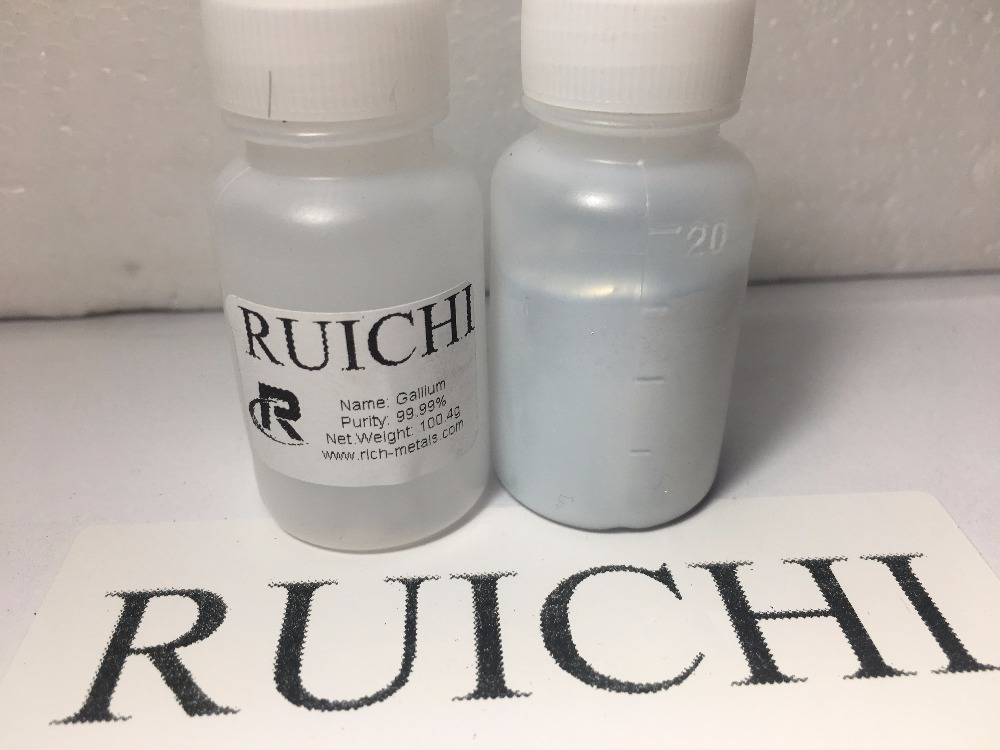 Gallium Metal 100 grams, 99.99% pure, RUICHI, by Changsha Rich Nonferrous Metals Co.,Ltd