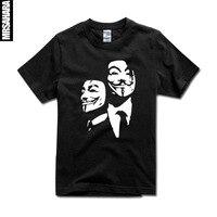 Sexemara top t film benutzerdefinierte t-shirt kurze ärmel plus größe xs-xxl diy druck t v wie vendetta hemd v t-shirt