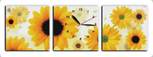 Sunflowers(Blossoming ) cross stitch kit 14ct 11ct count print canvas wall clock stitching embroidery DIY handmade needlework