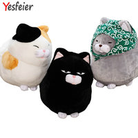 Whosale 30/40cm Big face cat Cloth Doll pussy cat plush toy children Fat cat doll animals birthday gift For Children Kids Toys
