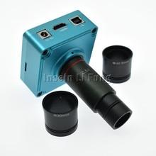 صناعة 28MP 1080 P 60fps HD المجهر HDMI كاميرا بـ USB TF بطاقة مسجل فيديو + 0.5X C جبل العدسة عدسة + 30 مللي متر 30.5 مللي متر محول