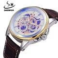 Fashion Sports Mechanical Watches Men Famous Brand SHENHUA Male Waterproof Clock Machinery Watch Automatic Skeleton Watches Man