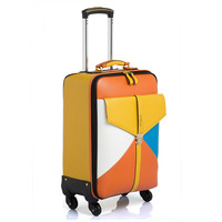 Wholesale 16 20 22 24inches Sold Seperately Vintage Pvc Leather Trolley Luggage Bags Europe Fashion Style