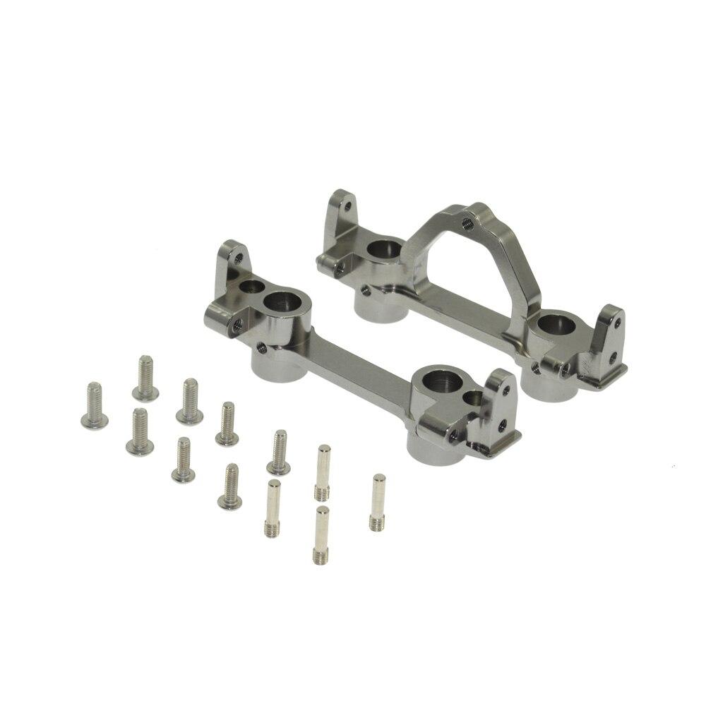 Haute Qualité En Alliage D'aluminium Avant Et Arrière Support de Pare-chocs Pour 1/10 Axial Scx10 robot SCX0026 90022 90035 Hopup Pièces