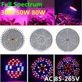 E27 Plant Led Light AC85-265V 30W 50W 80W Red+Blue+IR+UV+White 5730SMD Full Spectrum Hydroponic Plant Grow Lights