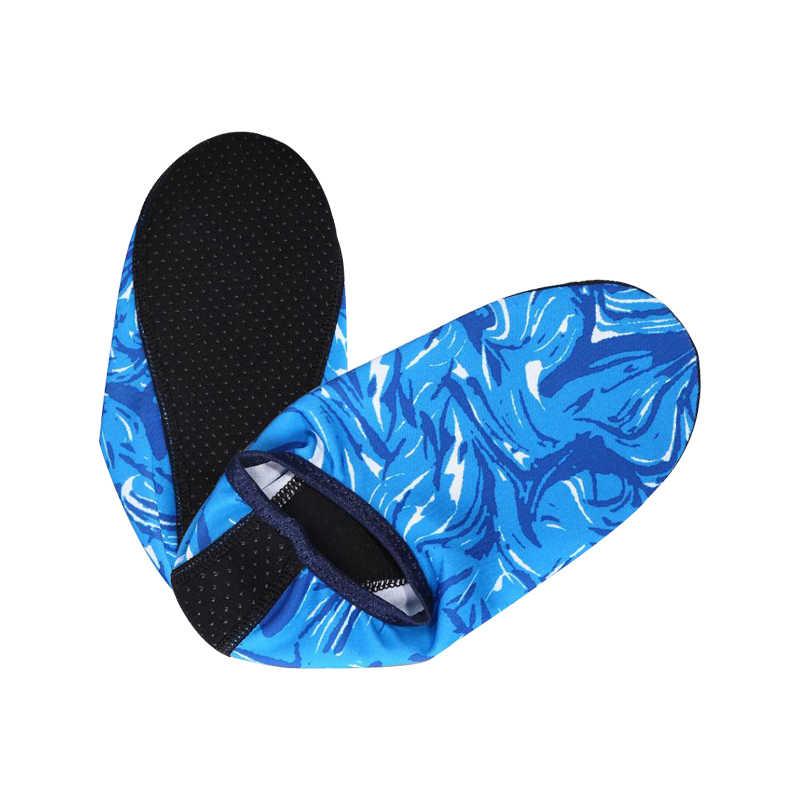 Płetwy do pływania sporty wodne plaża buty antypoślizgowe szybkie suche skarpety nurkowe lato kamuflaż nurkowania buty do surfingu dla dorosłych dzieci