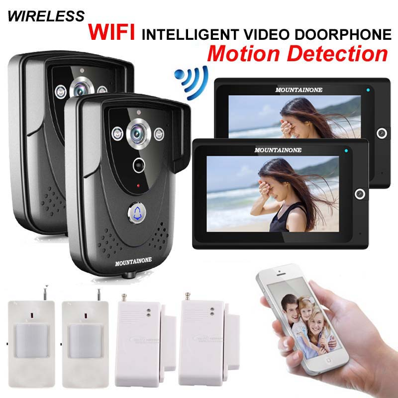 MOUNTAINON High-definition intelligent WIFI network video door phone/doorbell w/t anti-theft alarm and motion detection function