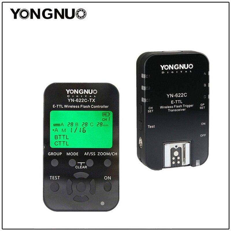 Yongnuo YN622C KIT YN-622C KIT Sans Fil TTL HSS Déclencheur Flash pour Canon 1200D 1100D 1000D 800D 750D 650D 600D 550D 500D 5DII