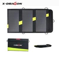 X-DRAGON 20 W Cargador de Panel Solar con Tecnología iSolar para iPhone, ipad, iPods, Samsung, Los Teléfonos Inteligentes Android y Más