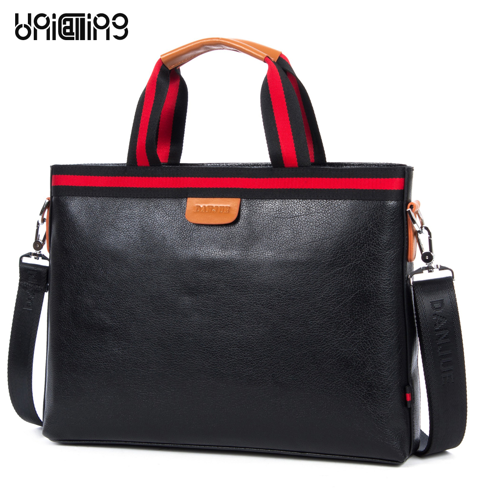 купить Fashion brand leather laptop computer bag men high quality cow leather real leather men briefcase male leather briefcase handbag онлайн