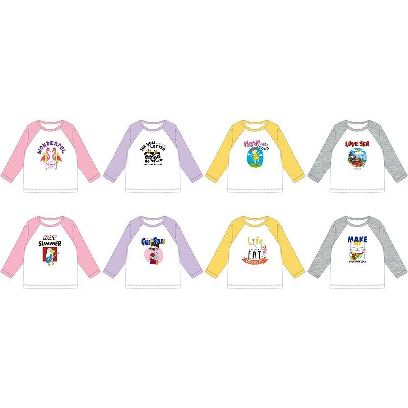 20Pcs Customized Print T Shirt For Baby Boy Gril Design Brand Logo Picture DIY Cotton Kid Children Casual Tops Clothes in T Shirts from Mother Kids