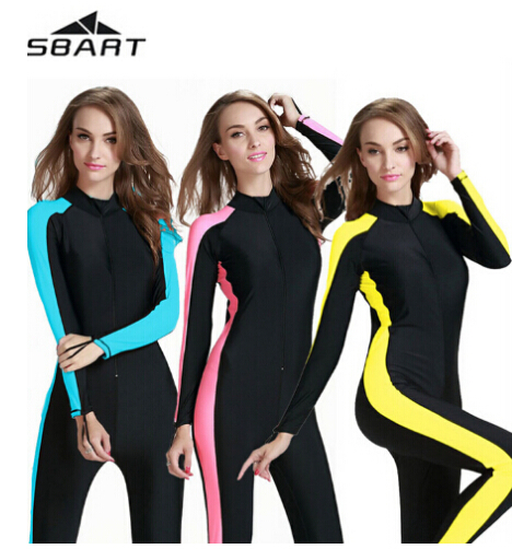SBART Women Diving Wetsuit One Pieces Wetsuit Swimwear Waterproof Swimming  Wetsuit Surf Full Body Wet Suit Full Body Swimsuit 300a191fa