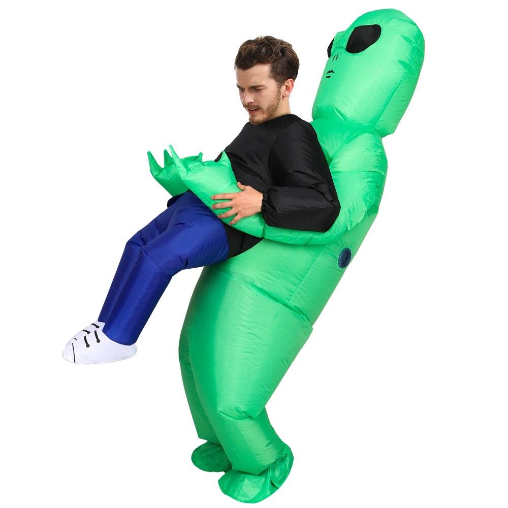 Extraterrestre gonflable extraterrestre Costumes pour homme fantasia adulte Halloween costume combinaison mascotte costume de fête pour adulte