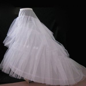 Image 3 - Cheap Wedding Petticoat Jupon Court Train Crinoline Slip Underskirt for A line Wedding Dress 3 Layers Wedding Accessoires