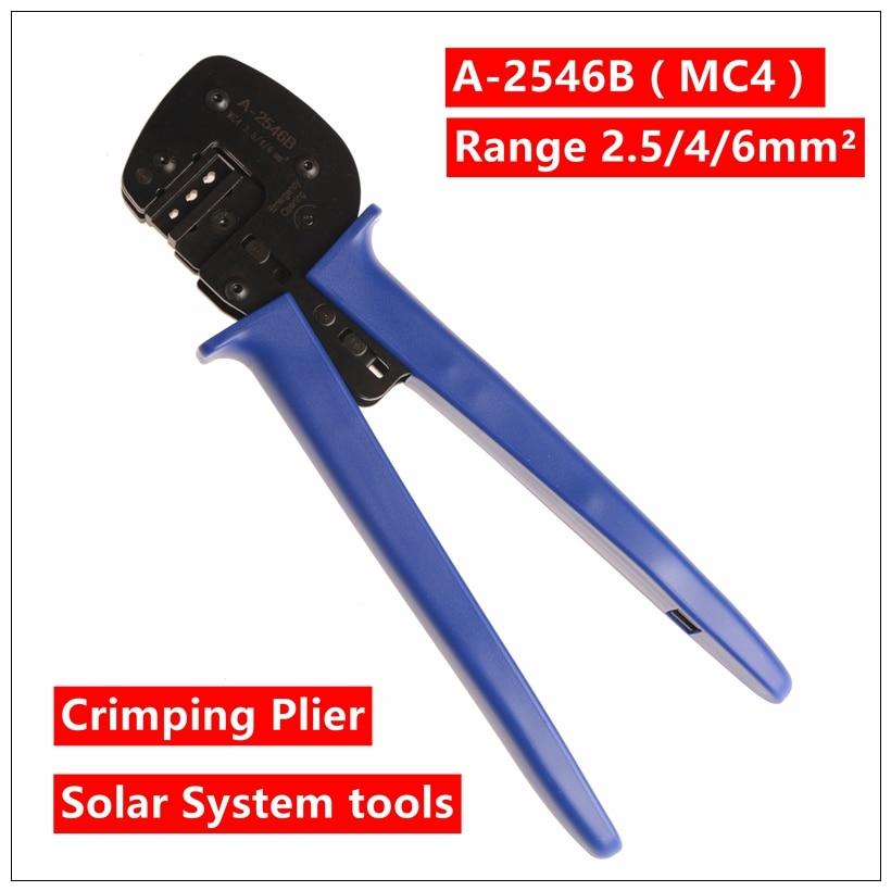 набор ручного инструмента lsd brand mc4 mc3 2 5 6 0mm2 mc3 mc4 a k2546b MXITA A-2546B(MC4) crimping tool crimping plier 2 multi tool tools hands Solar Photoroltaic Connector MC3/MC4 Crimping Tool