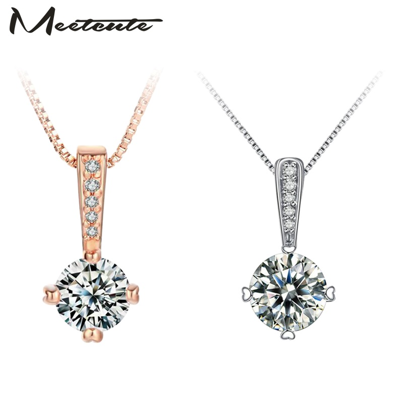 Meetcute New Fashion Jewelry Classic Crystal Necklace Statement Necklace Pendant For Necklace Women