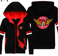 SKT Faker LOL Black and Red Unisex Zipper Cosplay Hoody Free Shipping