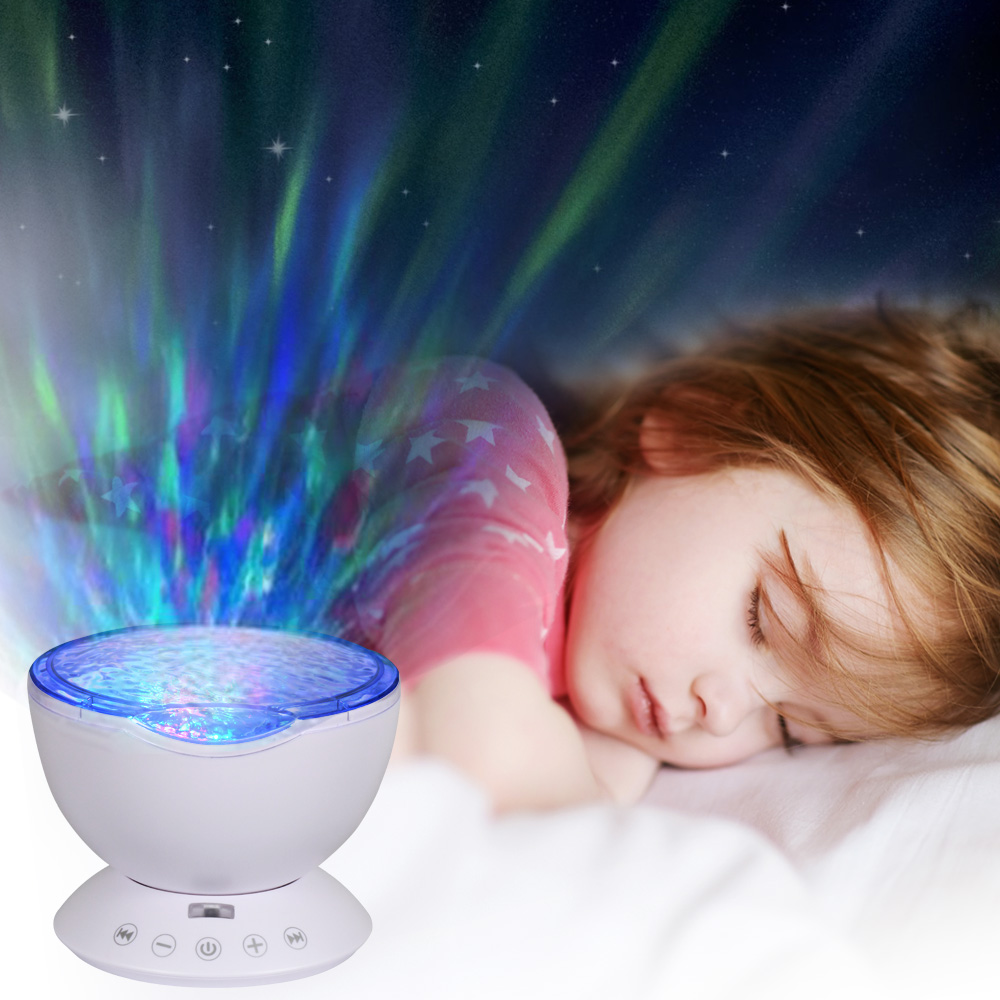 T-SUNRISE Ocean Wave Music Baby Night Light Projektor Inbyggd Mini - Nattlampor - Foto 5