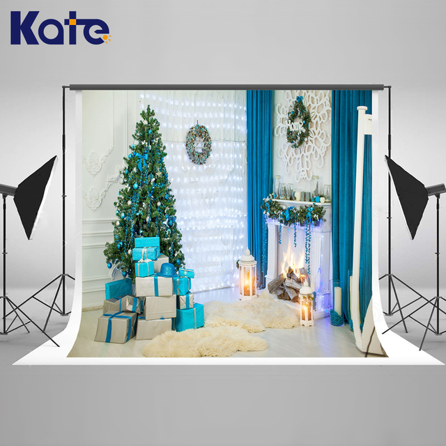 kate indoor christmas photographic studio background christmas decorations box photo background for family photo studio - Christmas Decorations Indoor