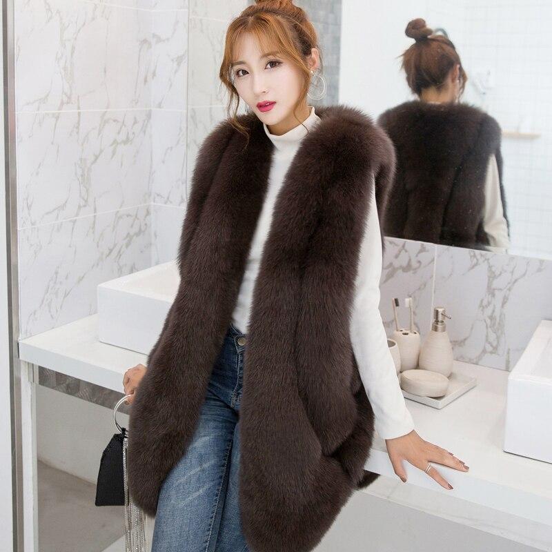 e227dcf2c23 ZADORIN NEW Designer Winter Faux Fur Vest Women Faux Fur Gilet pelliccia Plus  Size Furry Fur Coat manteau fourrure femme bontjas