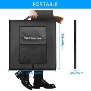 Image 5 - ZUOCHEN【UPGRADED】 60CM Photo Studio Photography Kit Portable LED Light Room Box Cube Tent Softbox Kit
