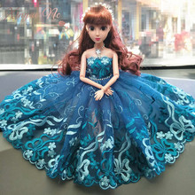 купить Explosive Lace Product 1yard Mesh Embroidered Lace Trim Doll Clothes Lace Fabric DIY Craft Width 22cm дешево
