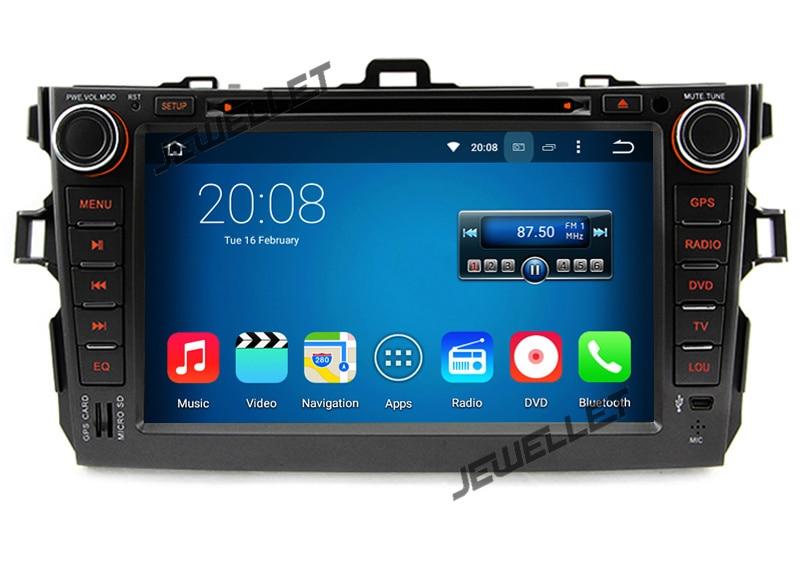 Quad core Android 9.0 voiture DVD GPS radio Navigation pour Toyota Corolla 2006-2013 avec 4G/Wifi, DVR lien miroir 1080P
