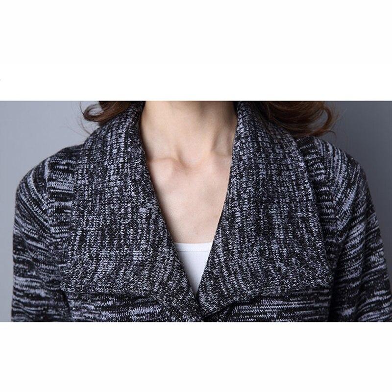 Cardigan Et Long D'hiver Veste Femelle photo black Automne Color Dames Gray Chandail Lu358 Paragraphe 2018 dIHx1Ydw