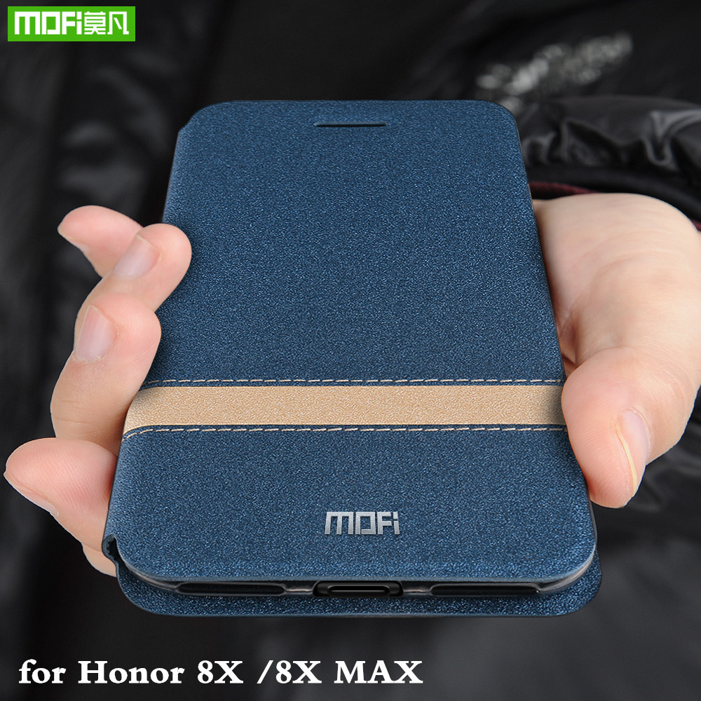 MOFi Flip Cover for Honor 8X Case for Huawei Honor 8X Max TPU Coque PU Leather Folio Housing Silicone Book Capa
