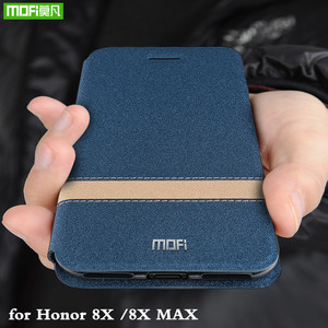 Image 1 - MOFi Flip Cover for Honor 8X Case for Huawei Honor 8X Max TPU Coque PU Leather Folio Housing Silicone Book Capa