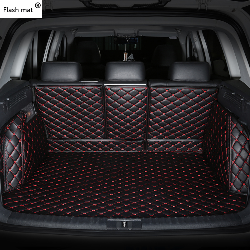 Flash Mat Leather Car Trunk Mats For Renault Duster Clio Scenic Kadjar Fluence Laguna Koleos Espace Talisman Custom Cargo Liner
