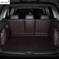 Mata błyskowa skórzane maty do bagażnika samochodu fit 98% model samochodu dla Toyota Lada Renault Kia volkswagen Honda BMW BENZ akcesoria podkładki pod stopy na