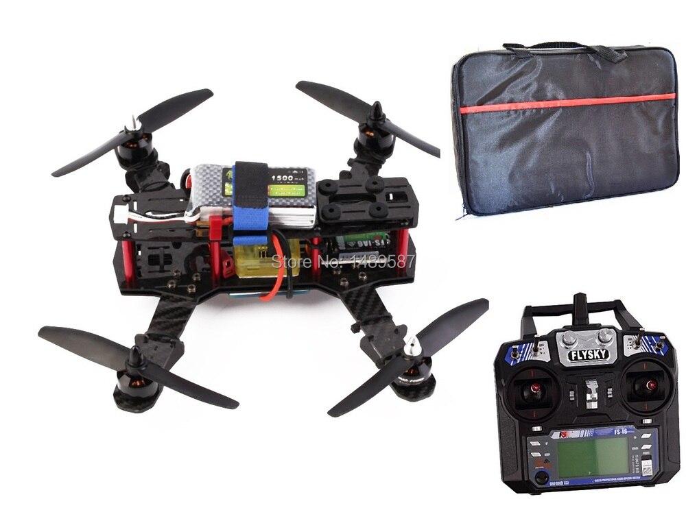 RC plane 250 Quadcopter Carbon Fiber Frame Kit with Remote Controller 12A esc 2204 2300kv motor CC3D controller \