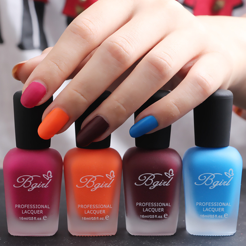 The new Bgirl matte matte fragrance nail polish bottle frosted ...