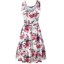 2019 new summer Beach tunic slim sleeveless sexy women dress Floral print midi vestido vintage boho plus size 3xl casual clothes