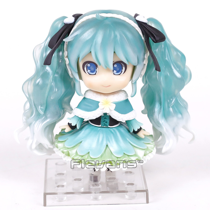 Hatsune Miku Snow Miku 2015 Snow in Summer ver. 047 Nendoroid Doll PVC Action Figure Collectible Model Toy image