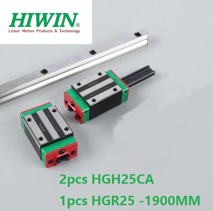 1pcs 100% original Hiwin linear guide linear rail HGR25 -L 1900mm + 2pcs HGH25CA square block for cnc router цена
